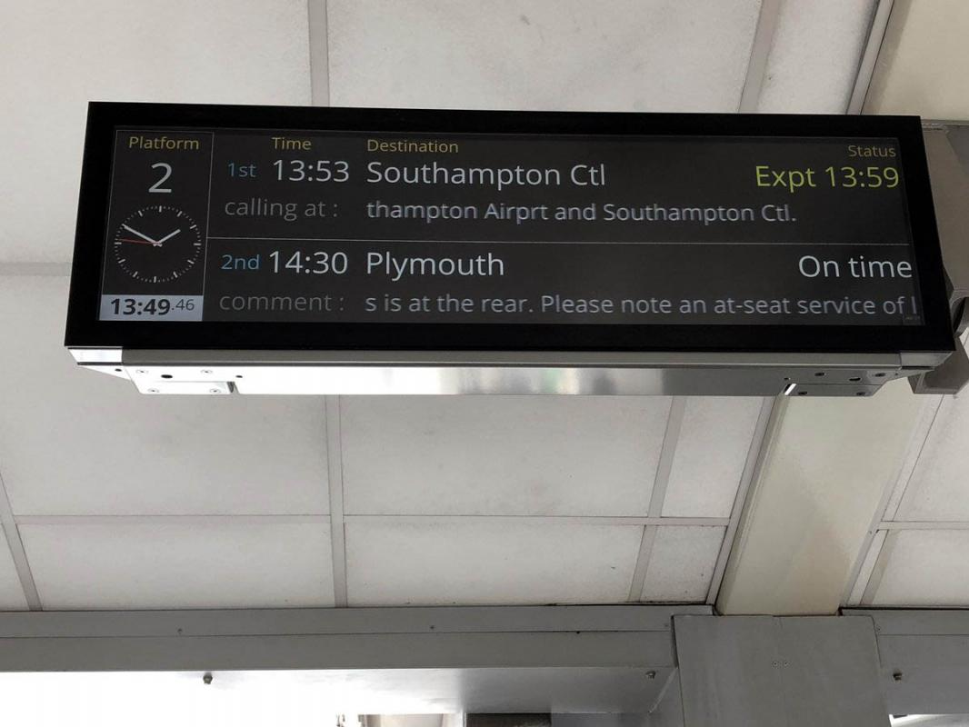TFT and LED displays for Derby