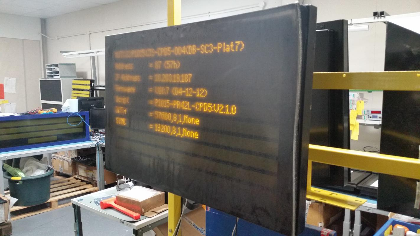 Information display survives Nottingham fire