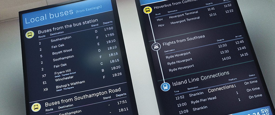 Display system to keep travellers fully informed